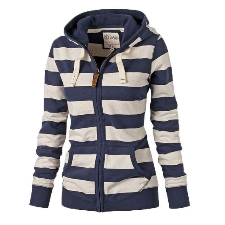 Girls Sweatshirts Coat, Spring Striped Hoodies
