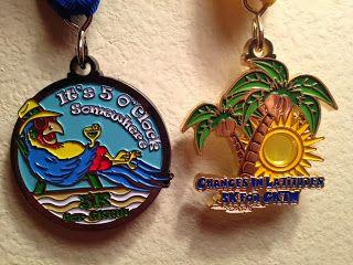 Medals for Jimmy Buffett inspired Virtual run