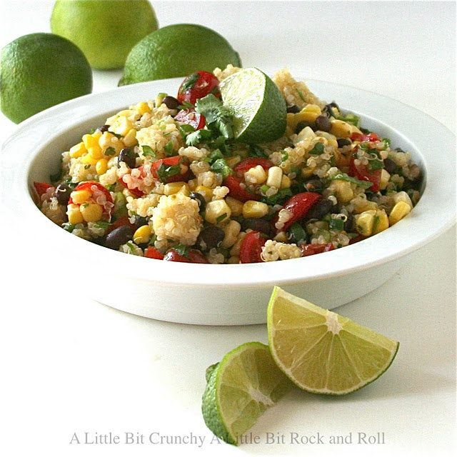 Quinoa Salad with Black Beans and Corn, I made it , tweeked a few ...