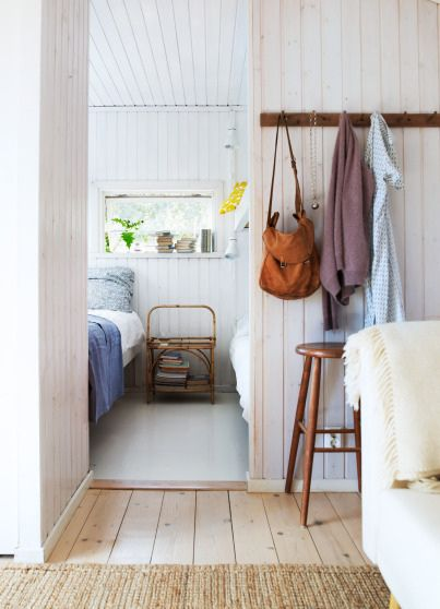 Magnus Anesund {white rustic scandinavian modern country house bedroom / hallway / entry way} by recent settlers, via Flickr