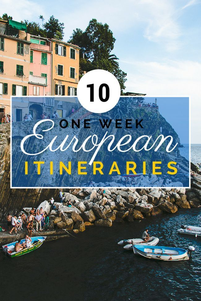 10 One Week European Itineraries #travel #europe