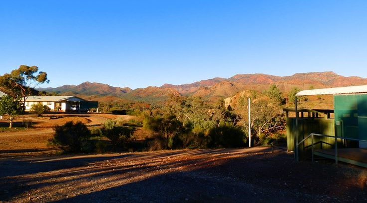 Another contender for Australia's most scenic loo - this one's at Angorichina in South Australia's Northern Flinders Ranges