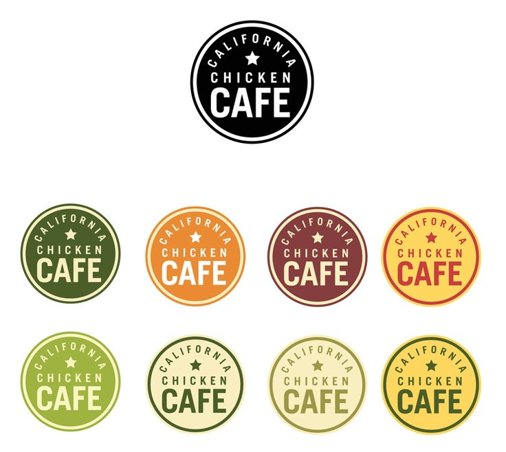 Badge Medallions - Love this idea for a restaurant sign or for little stickers to put on to go bags.