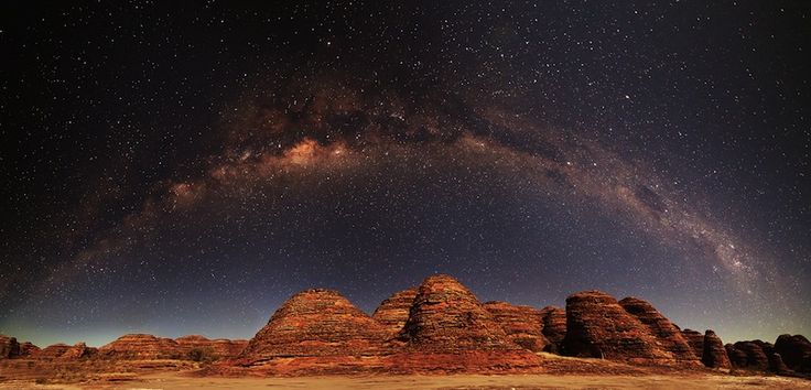 The Milky Way stretching over Australia's Bungle Bungles - Far north. Western Australia.
