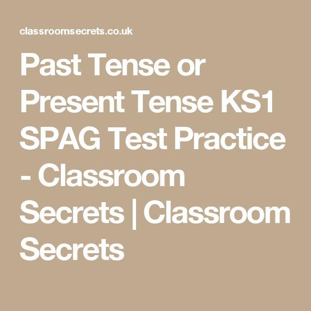 Past Tense or Present Tense KS1 SPAG Test Practice - Classroom Secrets | Classroom Secrets