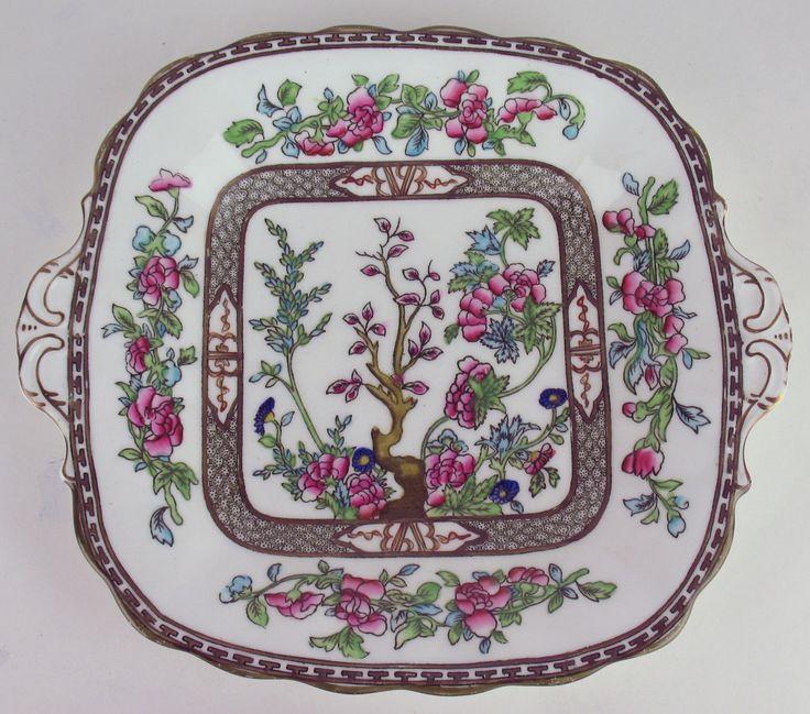 Cake Serving Plate Platter Coalport Indian Tree Vintage England Multicolor | eBay