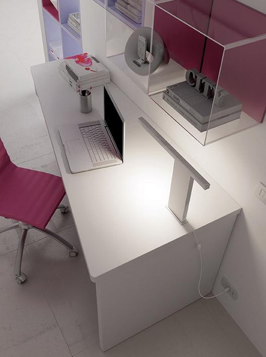 """#Arredamento #Cameretta Moretti Compact: Collezione 2012 """"Team"""" > Kids >> kc16 #scrivania #mensole http://www.moretticompact.it/kids.htm"""