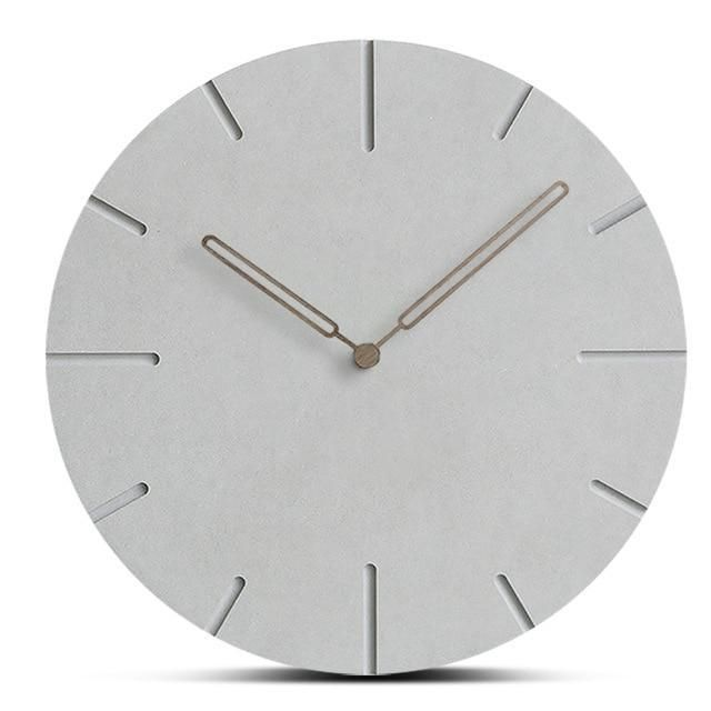 Wooden Faux Concrete Wall Clock Faux Concrete Wall Wall Clock Clock