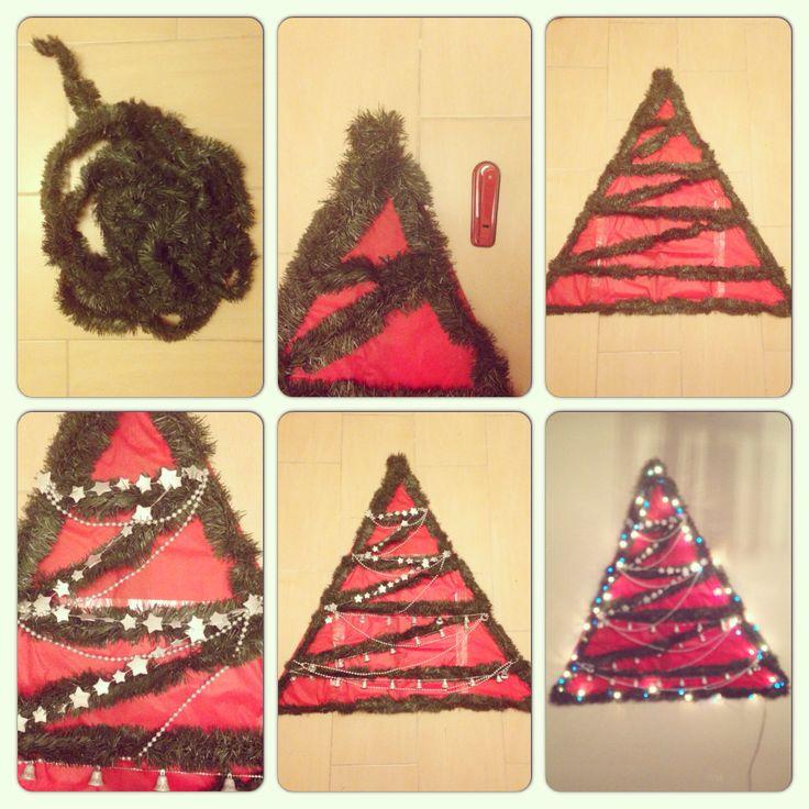 Vol2 Christmas tree yılbaşı çam ağacı ağaç süsleme handmade tree elişi karton kağıt makas zımba yılbaşı süsü yıldız çan 2014 duvar
