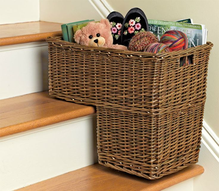 Captivating Stair Basket