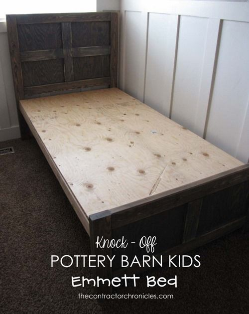 Build Your Own Pottery Barn Kids Emmett Twin Bed - The Contractor Chronicles