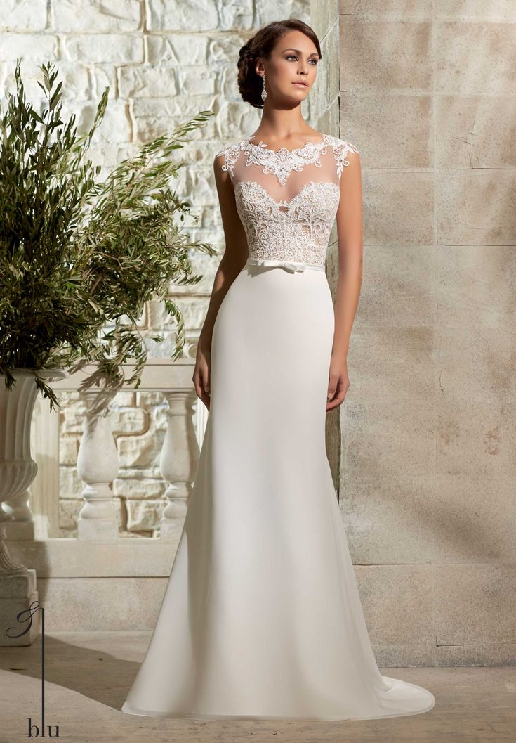 "NEW IN!!! ""Leigh"" style no: 5301 Mori Lee by Madeline Gardner Blu Collection 2015"