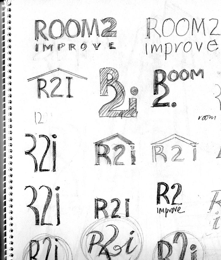Layouts, sketches for R2i - Room to improve.