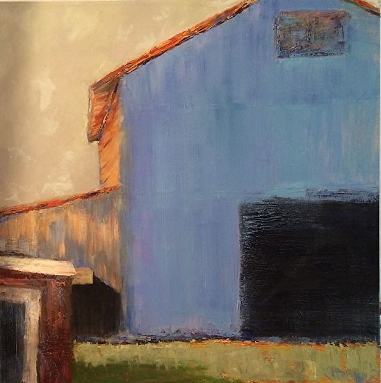 "Bennett Waters: ""Georgia Barn"", Oil On Canvas."