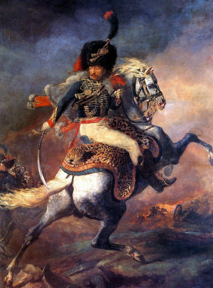 Лувр (Париж): ЖЕРИКО ТЕОДОР - Офицер конных егерей императорской гвардии, идущий в атаку.