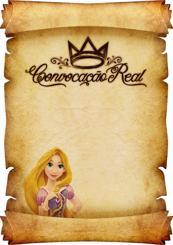 Convite Pergaminho Rapunzel 3