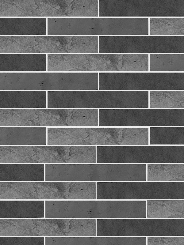 black slate mosaic kitchen backsplash tile 2x115 pieces. beautiful ideas. Home Design Ideas