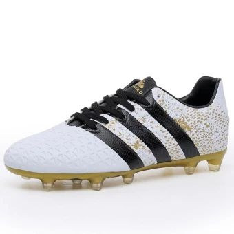 ราคาถูก  Mens Soccer Shoes Athletic Sport Sneakers Outdoor Long SpikesFootball Shoes Boys Soccer Sneakers Mens Trainers Futsal ShoesWhite - intl  ราคาเพียง  792 บาท  เท่านั้น คุณสมบัติ มีดังนี้ Anti-skidding& Lightweight Damping Collision Avoidance