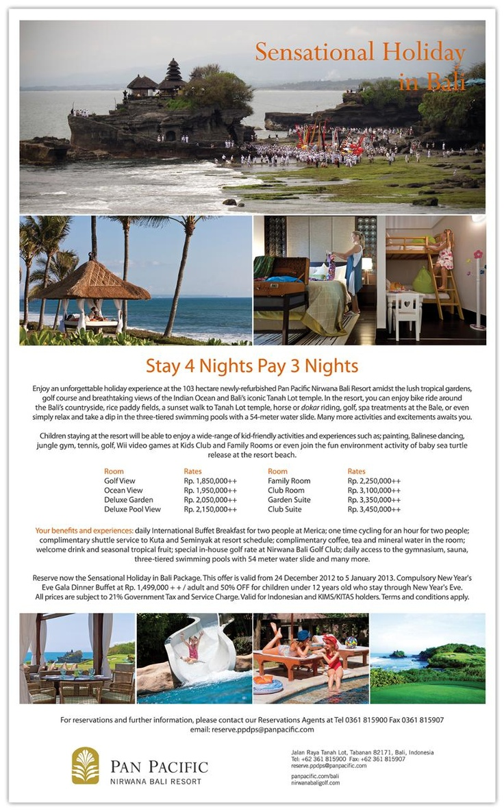 Sensational Holiday Package in Bali