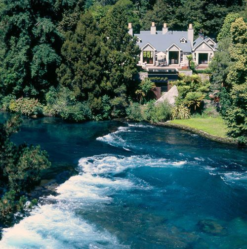 Huka Lodge,Taupo. Visit http://www.seasonz.co.nz/index.php/leisure-travel/180-the-ultimate-family-getaway for more information. #luxury #lodge