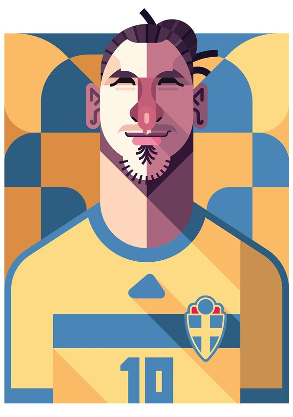 zlatan imbrahimovic poster illustration 15 Cool Illustrations of Famous Football Players