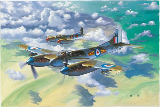 Aircraft - All Scales : Trumpeter 02894 De Havilland Hornet F.3 1/48