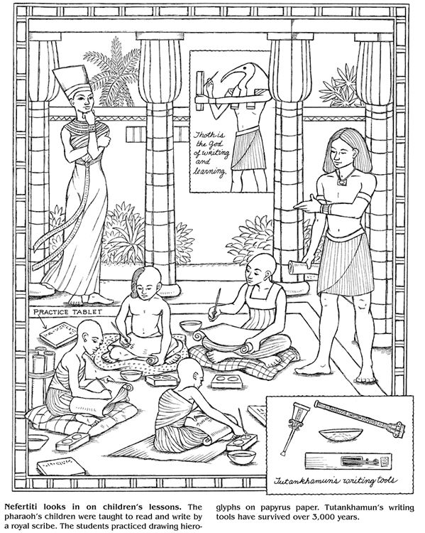 58 best Kleurplaten Egypte images on Pinterest  Coloring pages