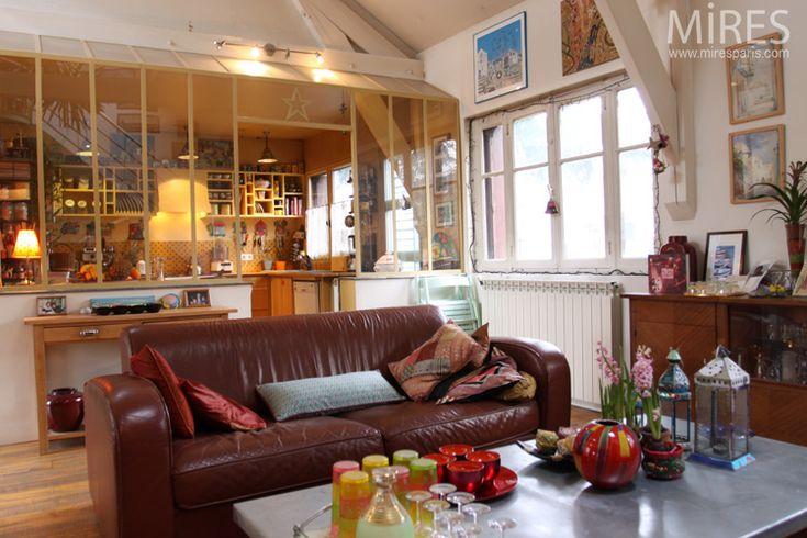 41 best Verrière images on Pinterest For the home, Room dividers - prix construction maison 150m2