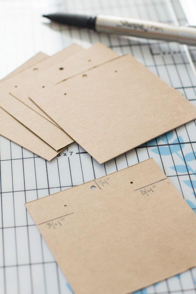 DIY Kraft Paper Earring Display Cards | Organized Jewelry | Modish and Main