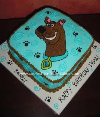 Homemade Scooby Birthday Cake Design: My 3 year-old is a Scooby fanatic, and he didn't like the only Wilton pan that was available at the time.  This Scooby Birthday Cake Design is a double