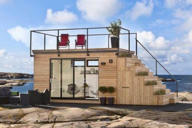 Ny svensk fritidshytte med usædvanligt design