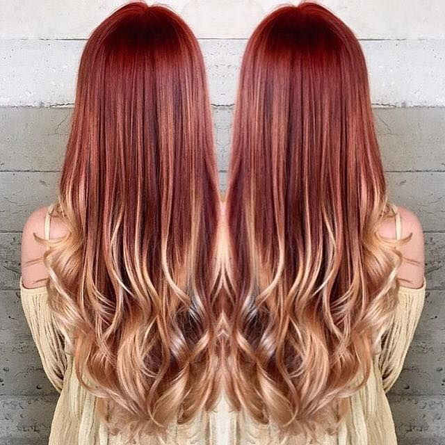 Dark brown red hair to blonde the best hair 2017 brown with red blonde highlights 40 blonde and dark brown hair color ideas hairstyles pmusecretfo Image collections