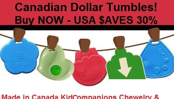 Folks In USA Save 30% On SentioLife Solutions' Chew Necklaces - Canadian dollar sinks! Canadian dollar below 70 cents US. Canadian dollar poised to fall even further! If you live in the United States and want to buy products in Canada, NOW is the perfect time to