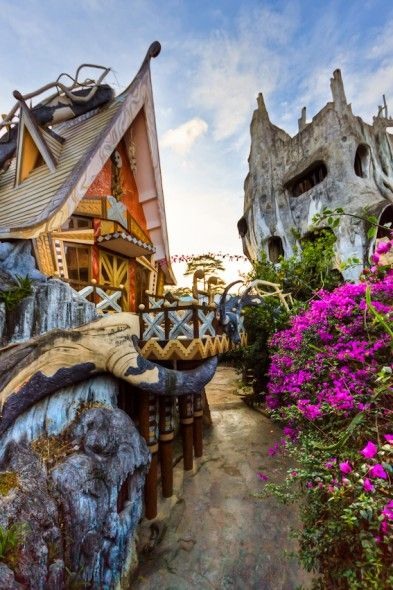 Located in Da Lang, Vietnam, Hang Nga's Tree House Hotel, better known as Crazy House, features giant tree trunks and branches that try to trick you into believing this is an actual tree house.