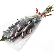 Football Roses can be used in bridal bouquets and football themed wedding table centerpieces.  You'll also want to check out football rose boutonniere's and cufflinks for your groomsmen ... order yours today at www.sportsthemedweddings.com