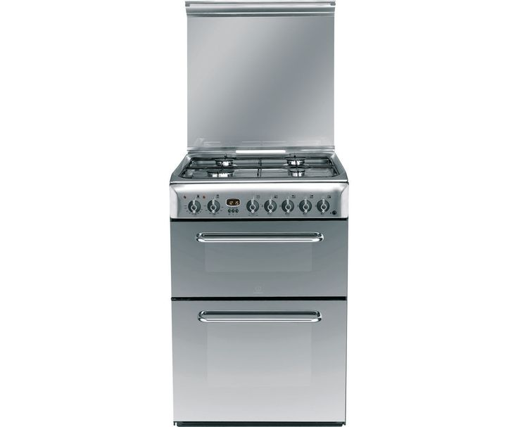 Indesit KDP60SES Dual Fuel Cooker with Gas Hob Free Standing 60cm Stainless