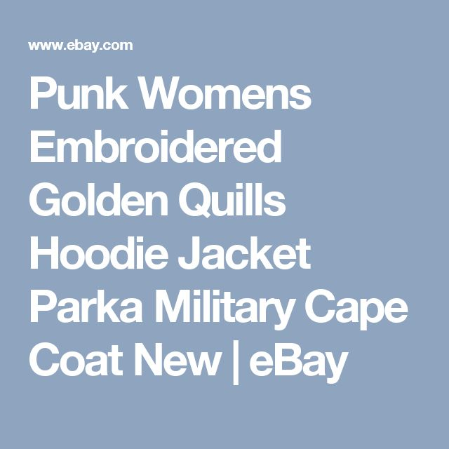 Punk Womens Embroidered Golden Quills Hoodie Jacket Parka Military Cape Coat New | eBay