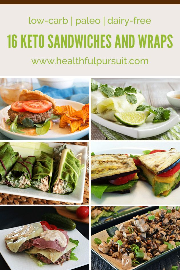 6 Keto Sandwiches and Wraps (low-carb, paleo + dairy-free)