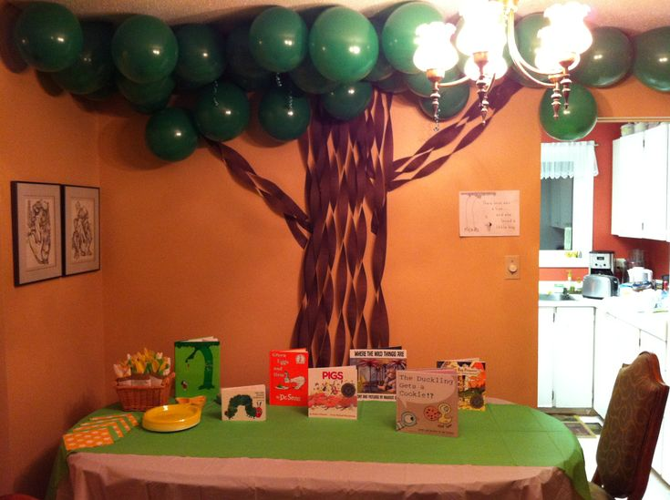 1000 ideas about baby shower balloons on pinterest for Baby shower tree decoration