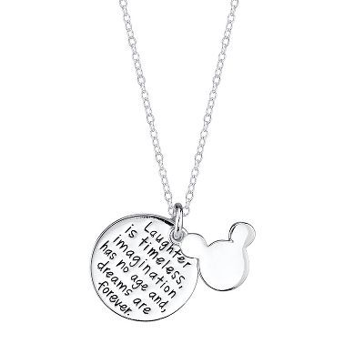 Disney's Mickey Mouse Disc Pendant in Sterling Silver available at #HelzbergDiamonds