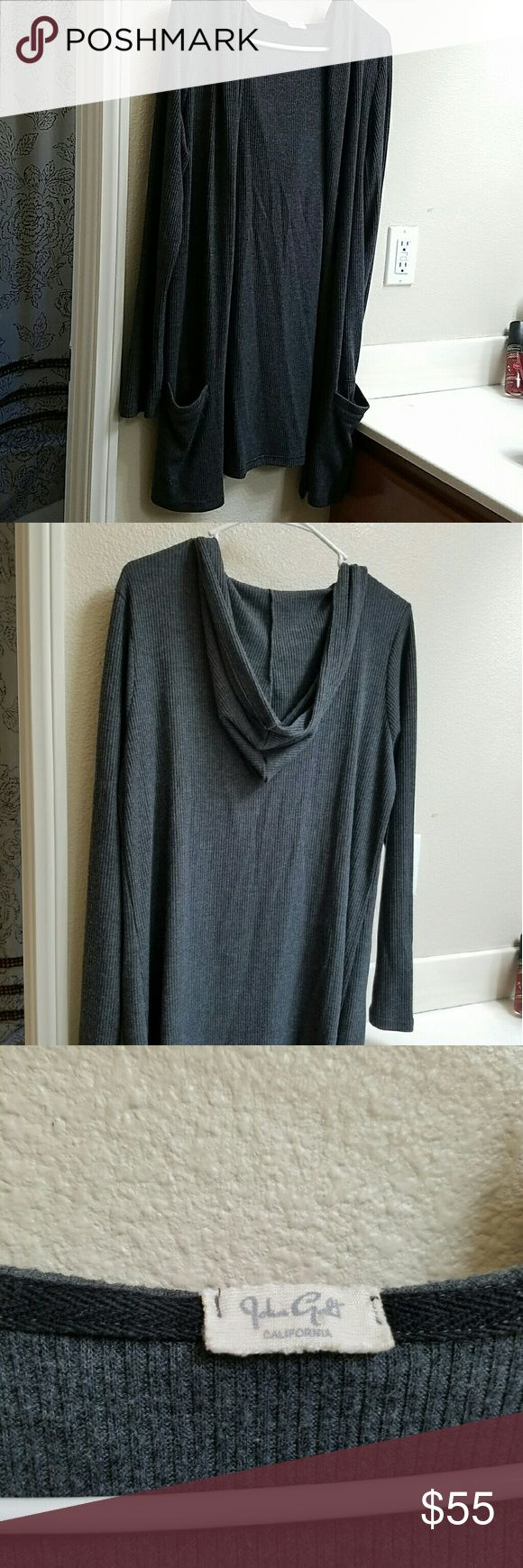 Brandy Melville cardigan Cute thin grey cardigan! Only wore once! Brandy Melville Sweaters Cardigans