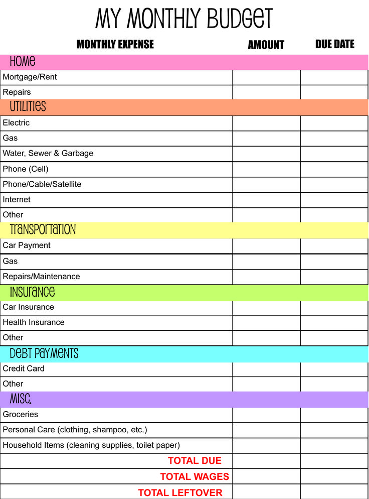 Best 25+ Budget planner ideas on Pinterest Printable budget - monthly expenditure template