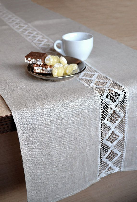 25 best ideas about natural linen on pinterest easter - Manteles para mesa ...