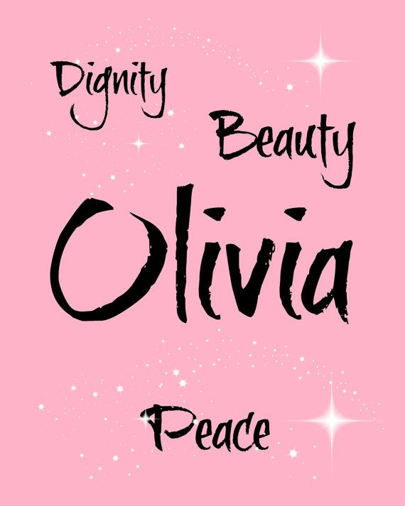 Olivia Name Meaning 8 x 10 Instant Digital by LoveLaughPrintables