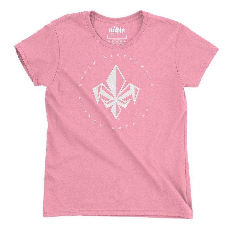 Womens FDL Short Sleeve T-Shirt - Charity Pink-*Womens T-Shirt-White-Noble Streetwear™