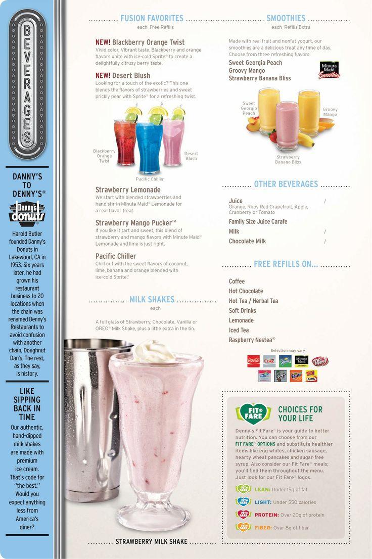 Denny's beverage menu •