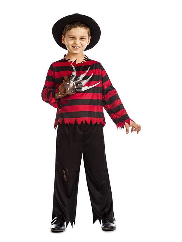 El disfraz de freddy krueger niño, incluye Pantalón y camisa en DisfracesMimo.com