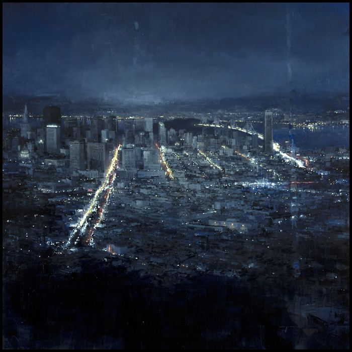 Jeremy Mann: Evening Over San Franciso