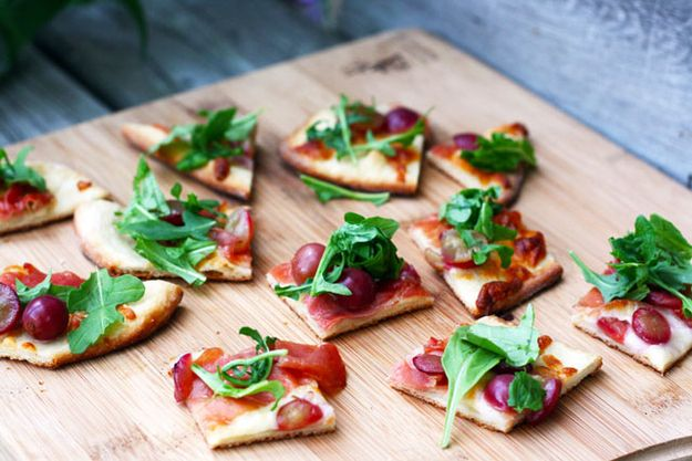 Grape, Prosciutto, and Arugula Flatbread | 101 Bite-Size Party Foods