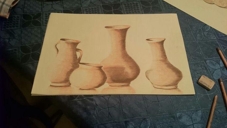 Bodegon Vasijas de barro